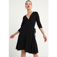 Dorothy Perkins Petite WRAP Sukienka z dżerseju black DP721C06Y