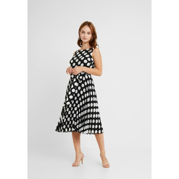 Wallis Petite SPOT PLEATED DRESS Sukienka letnia black WP021C063