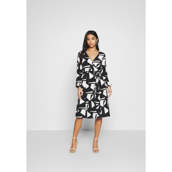 Wallis Petite STONE GEO WRAP DRESS Sukienka z dżerseju black WP021C06Y