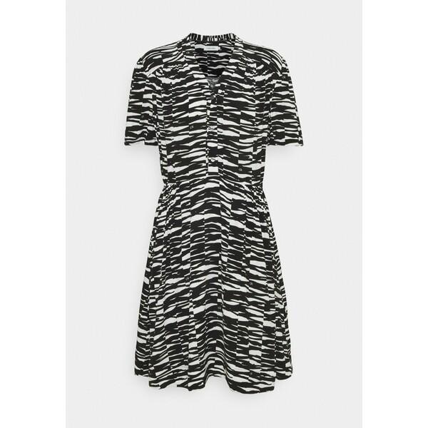 Calvin Klein SHORT DRESS Sukienka letnia black/ecru 6CA21C03D