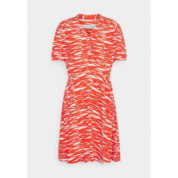Calvin Klein SHORT DRESS Sukienka letnia fiesta/ecru 6CA21C03D