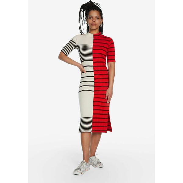 Desigual Sukienka do połowy łydki w paski 19WWVK691000