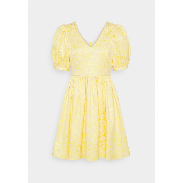 Selected Femme SLFJOYCE SHORT GOWN Sukienka koktajlowa gold colour SE521C102