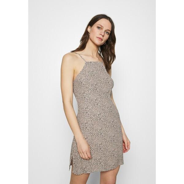 Abercrombie & Fitch HALTER SLIP SHORT DRESS Sukienka koktajlowa brown A0F21C07L