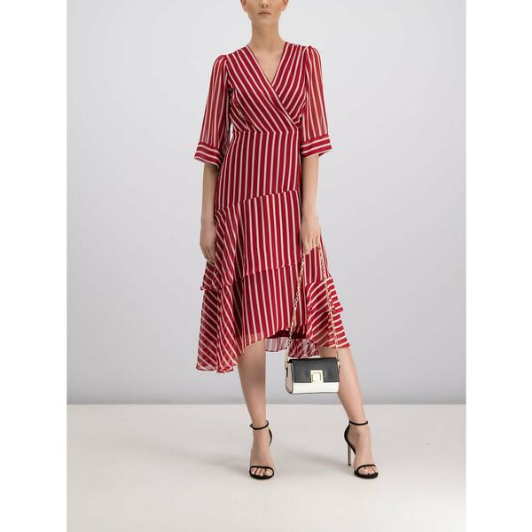 Marella Sukienka codzienna 32263398 Czerwony Regular Fit