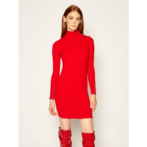 Pinko Sukienka dzianinowa Cuba AL 20-21 BLK01 1G157Y Y6ED Czerwony Slim Fit