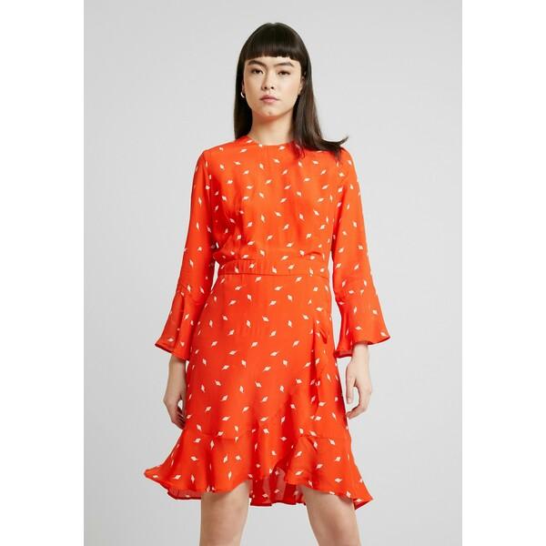 IVY & OAK VOLANT Sukienka letnia mandarin red IV321C070
