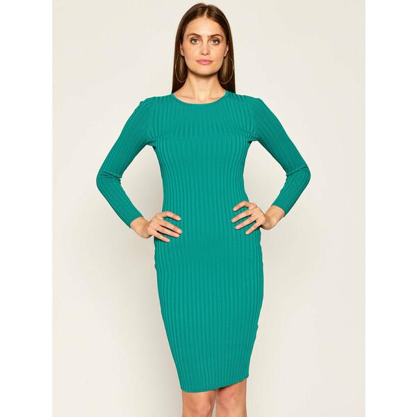 Guess Sukienka dzianinowa Angela W0YK90 Z2G50 Zielony Slim Fit