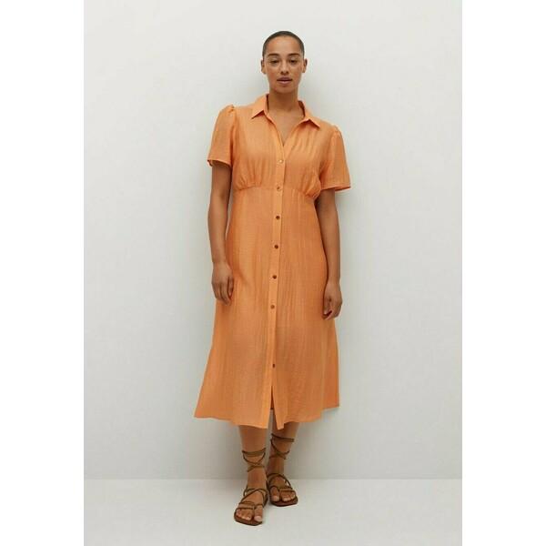 Violeta by Mango Sukienka koszulowa orange VM421C0VZ