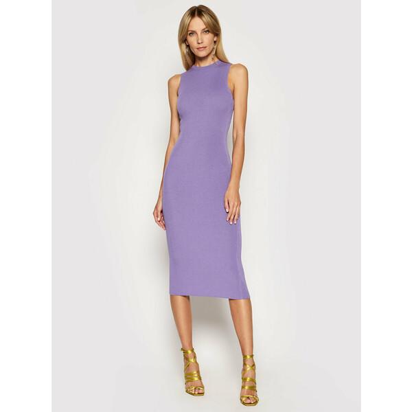 Kontatto Sukienka dzianinowa 3M7227 Fioletowy Slim Fit