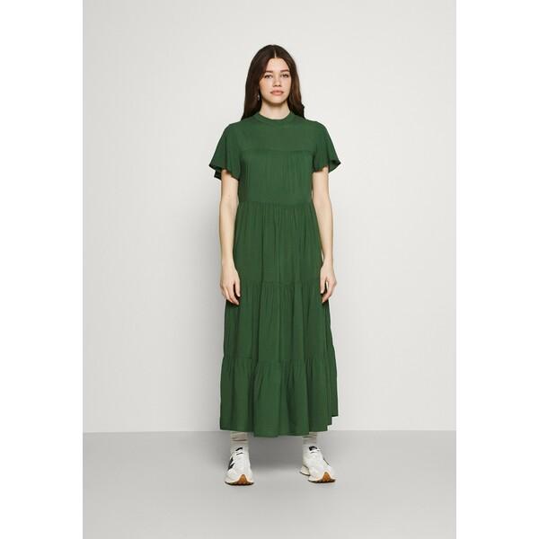 Trendyol Długa sukienka emerald green TRU21C08F