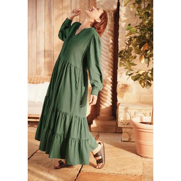 Next EMMA WILLIS Długa sukienka dark green NX321C1E5