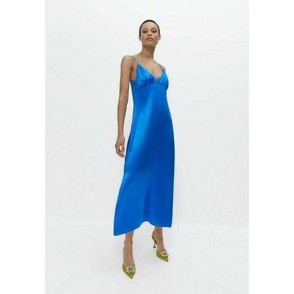 Uterqüe Sukienka koktajlowa neon blue UT421C04O