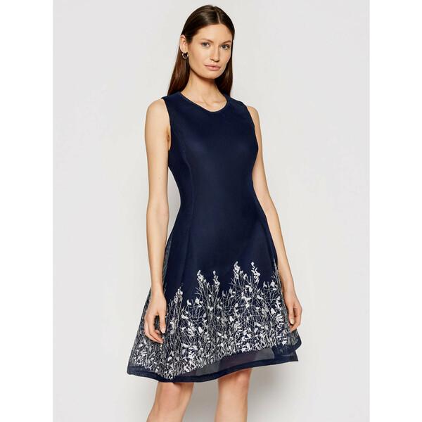 DKNY Sukienka koktajlowa DD0DP149 Granatowy Regular Fit