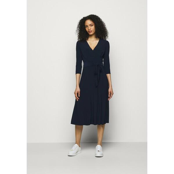 Lauren Ralph Lauren MID WEIGHT DRESS Sukienka z dżerseju lighthouse navy L4221C13P