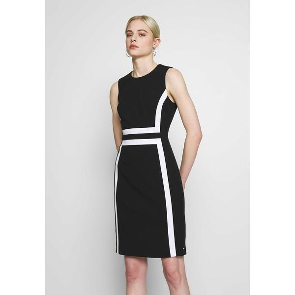 Calvin Klein CONTRAST PANEL DRESS NS Sukienka z dżerseju black 6CA21C01T