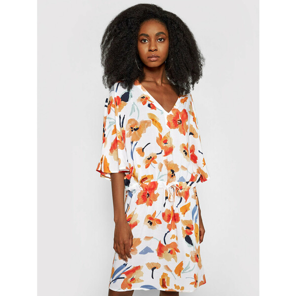 Seafolly Sukienka letnia Summer Memoirs 54433-KA Biały Regular Fit