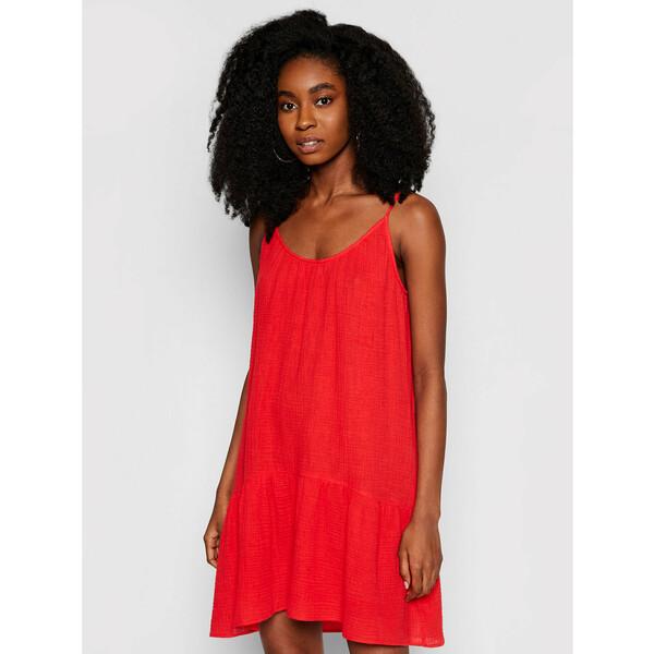 Seafolly Sukienka letnia Double Cloth Day 54251-DR Czerwony Regular Fit