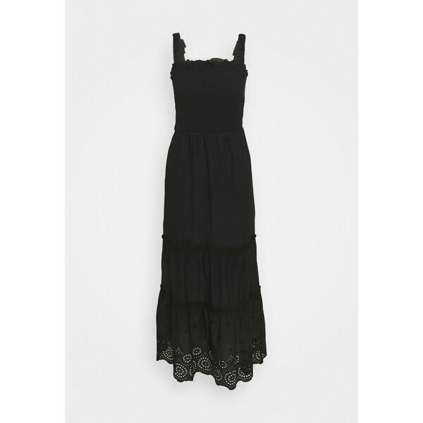 Dorothy Perkins SHEERED BRODARIE DRESS Sukienka letnia black DP521C2NO