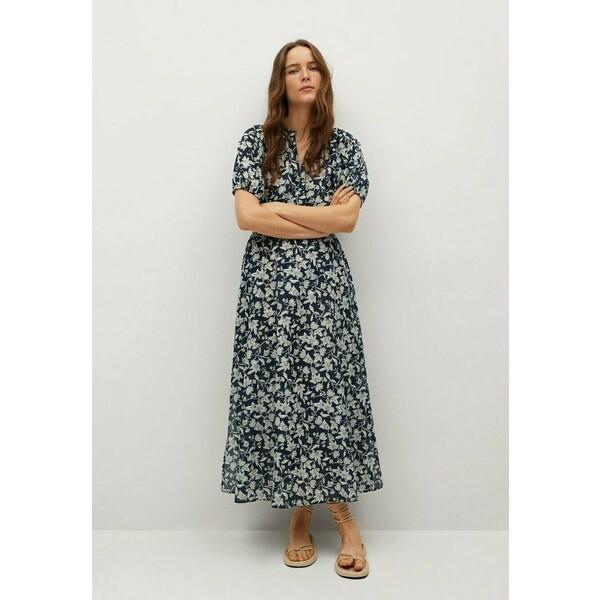 Mango CALABASA Długa sukienka azul marino oscuro M9121C53J