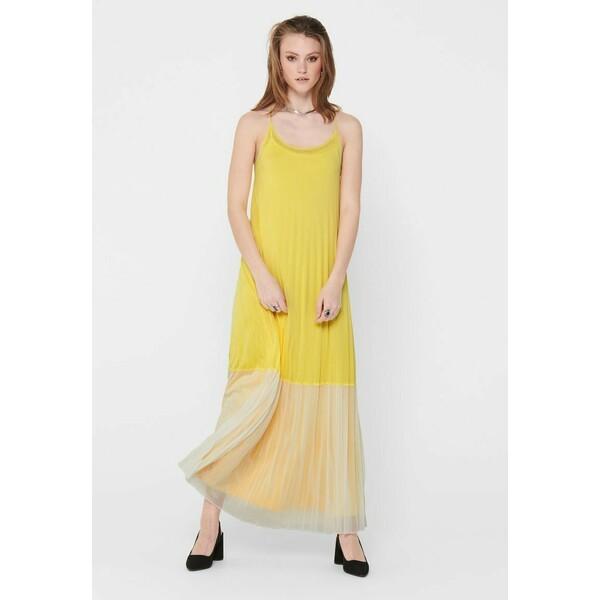 ONLY Długa sukienka Dusky Citron ON321C1WO