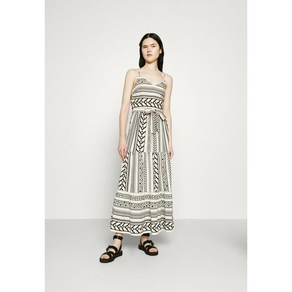 Vero Moda VMDICTHE SINGLET ANCLE DRESS Długa sukienka birch/dicthe/black VE121C243