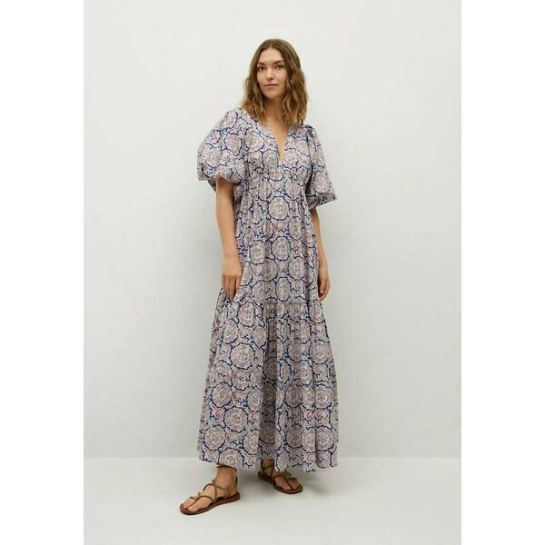 Mango Długa sukienka bleu M9121C546