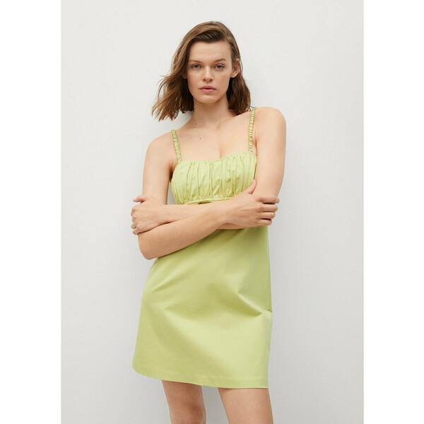 Mango Sukienka letnia Damas 17081079 Zielony Regular Fit