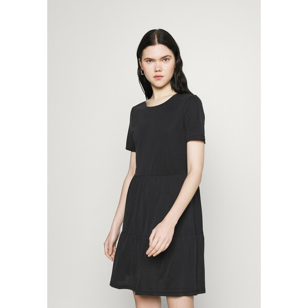 Vero Moda VMFILLI CALIA SHORT DRESS Sukienka z dżerseju black VE121C2O6