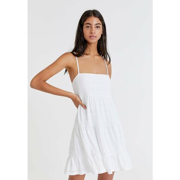 PULL&BEAR Sukienka letnia white PUC21C0NR