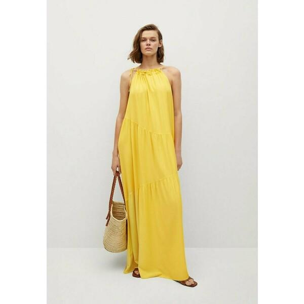 Mango Długa sukienka lime M9121C52P