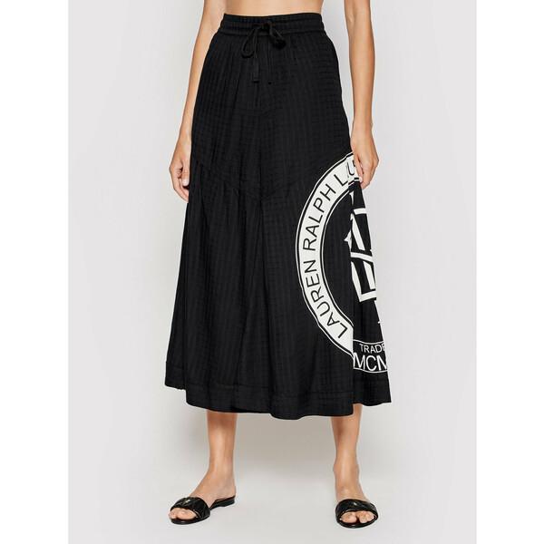 Lauren Ralph Lauren Spódnica trapezowa 200837876001 Czarny Regular Fit