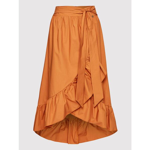 Rinascimento Spódnica midi CFC0103584003 Pomarańczowy Regular Fit