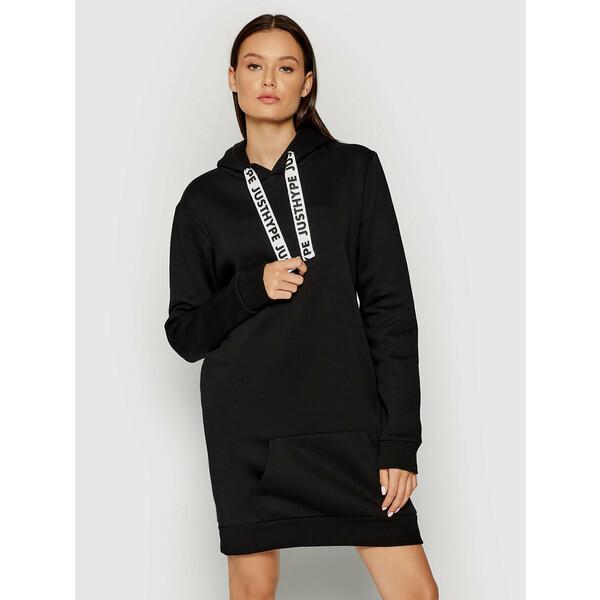 HYPE Sukienka dzianinowa YWF-153 Czarny Regular Fit