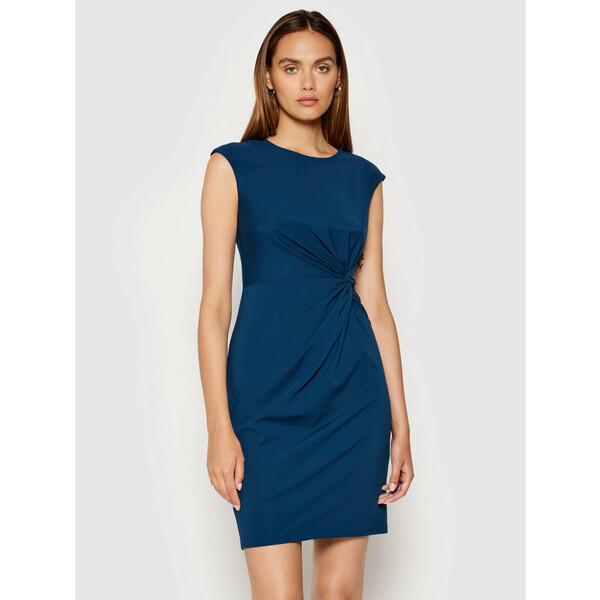 DKNY Sukienka koktajlowa DD1EV652 Niebieski Slim Fit