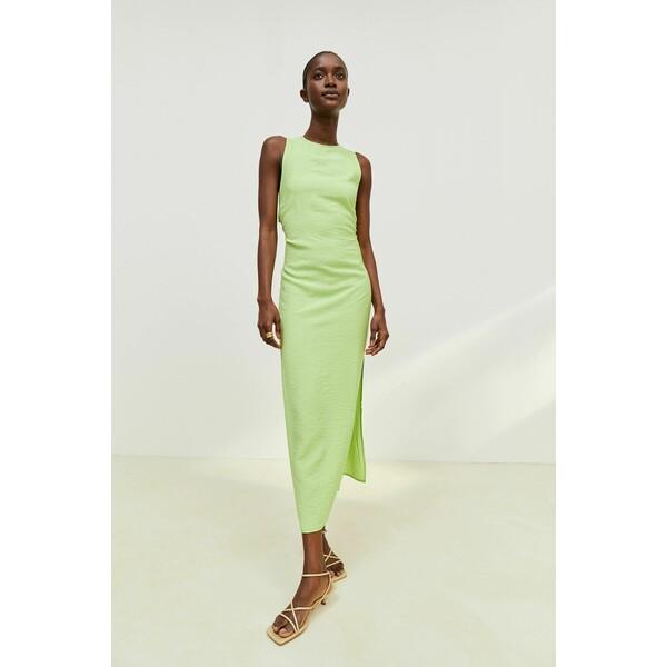 H&M Sukienka z rozcięciem 1016446001 Limonkowy