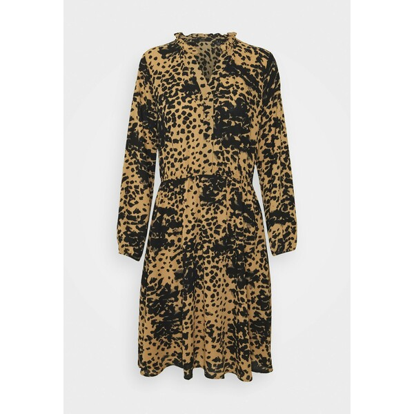 Vero Moda VMAYA V NECK DRESS Sukienka koszulowa tan/petrina big VE121C2BL