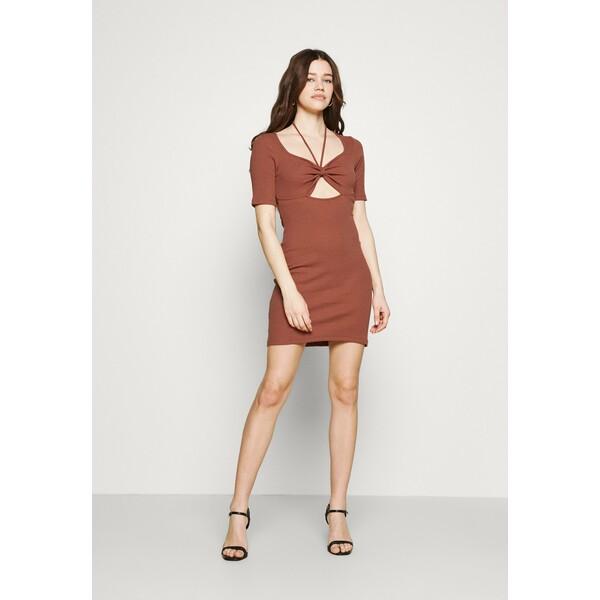 Trendyol Sukienka z dżerseju cinnamon TRU21C083