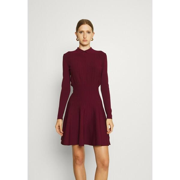 Alberta Ferretti UNITARD Sukienka dzianinowa violet AF321C023