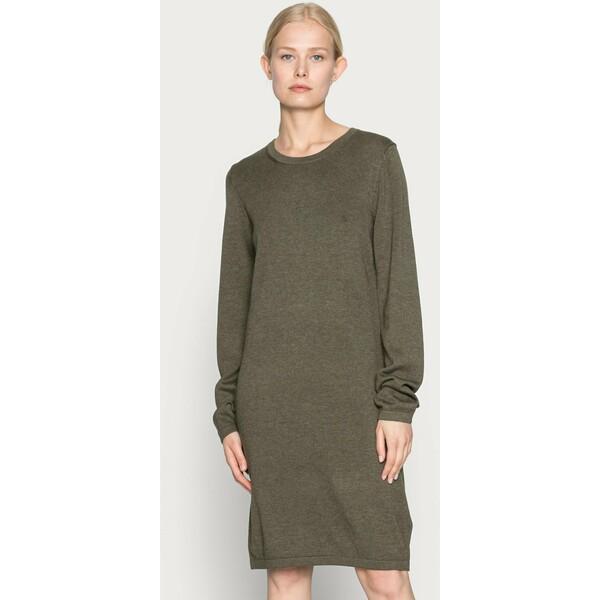 edc by Esprit DRESS Sukienka dzianinowa dark khaki ED121C0V5
