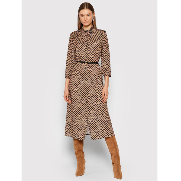 Rinascimento Sukienka koszulowa CFC0018046002 Brązowy Regular Fit