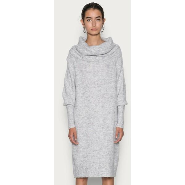ONLY ONLSTAY COWLNECK DRESS Sukienka dzianinowa light grey melange ON321C2MW