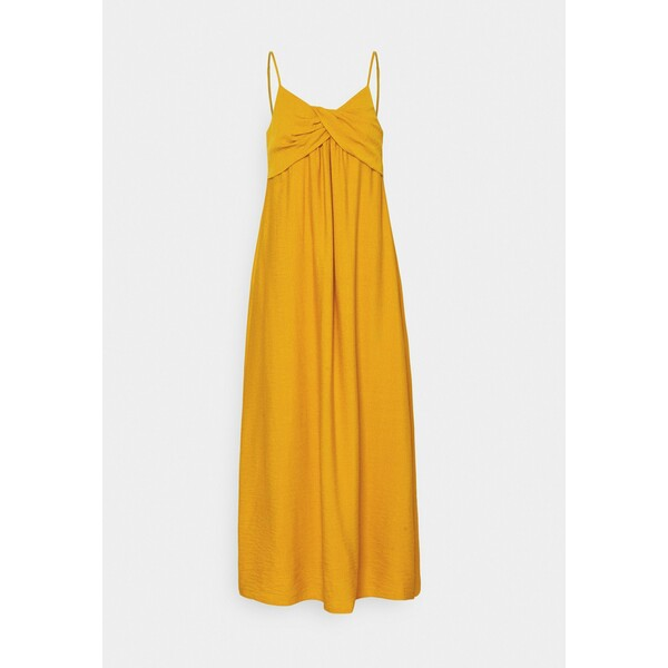 Banana Republic STRAPPY TWIST FRONT MIDI Sukienka letnia golden yellow BJ721C0G6