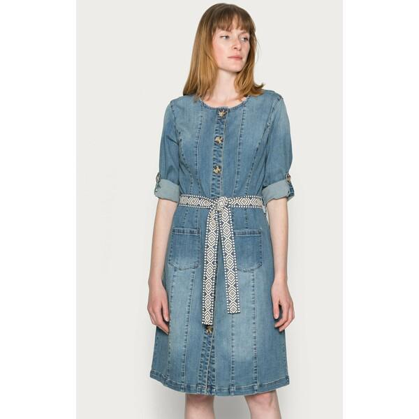 Cream BERETE DRESS Sukienka jeansowa denim blue CR221C0L4