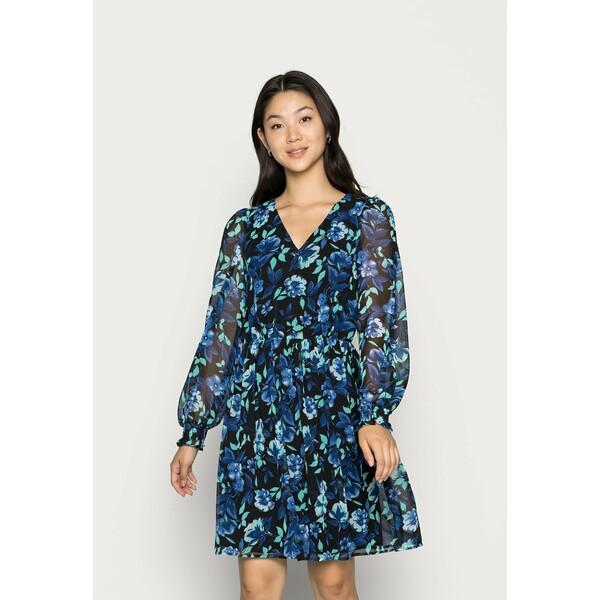 Vila MALLORY V NECK DRESS Sukienka letnia mazarine blue V1021C2OY