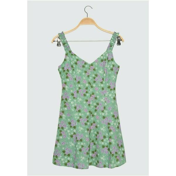 Trendyol Sukienka letnia green TRU21C0P3