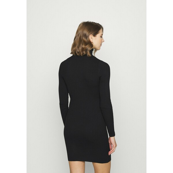 ONLY ONLELLY ROLLNECK DRESS Sukienka dzianinowa black ON321C1ZS