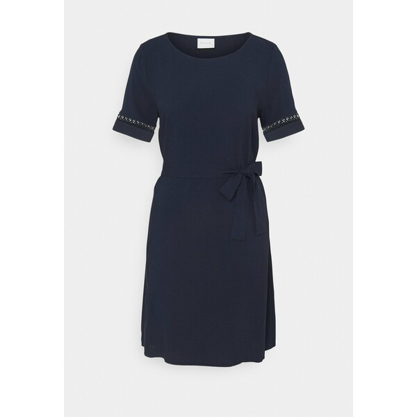 Vila VILANA LACE BELT DRESS Sukienka letnia navy blazer V1021C2LS