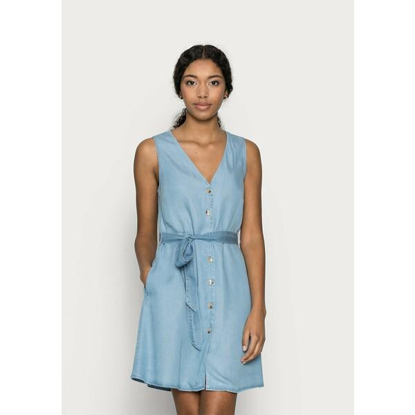 Vero Moda Petite VMVIVIANA SHORT DRESS PETITE Sukienka jeansowa light blue denim VM021C08R