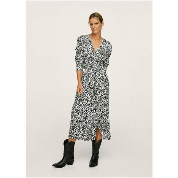 Mango Długa sukienka black M9121C5B5